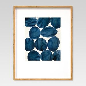 Blue Watercolor Abstract Wall Art Project 62